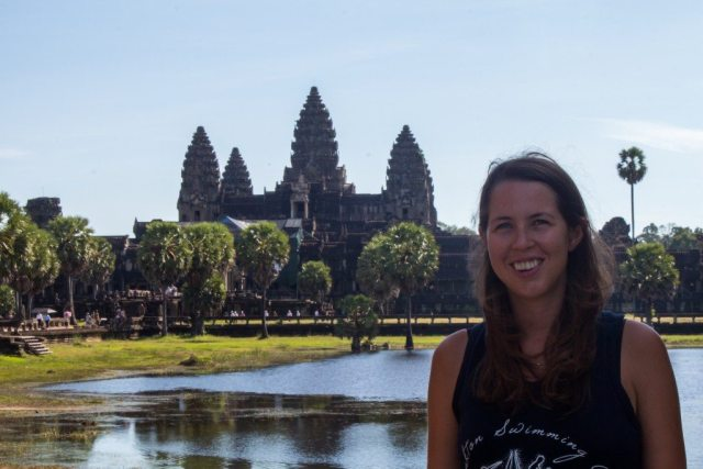 Me at Cambodia's Angkor Wat one of my favourite places in the world