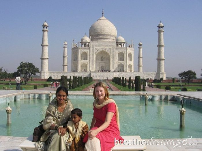 Mariellen Ward at the Taj Mahal