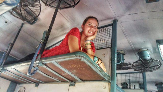 On the train in sleeper class India
