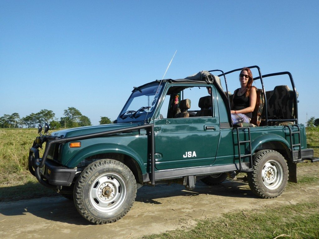 Jeep safari in Kaziranga National Park