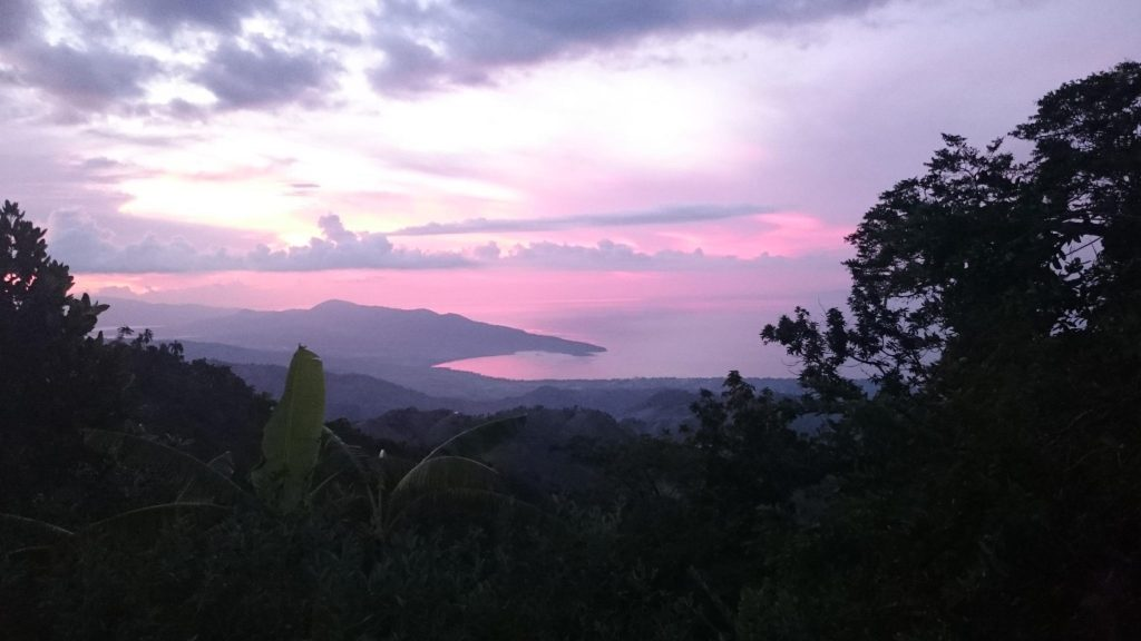 Sunset over Haiti