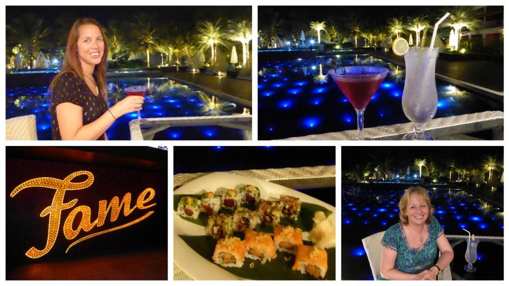 Dinner at the Fame restaurant at Planet Hollywood Resort Goa
