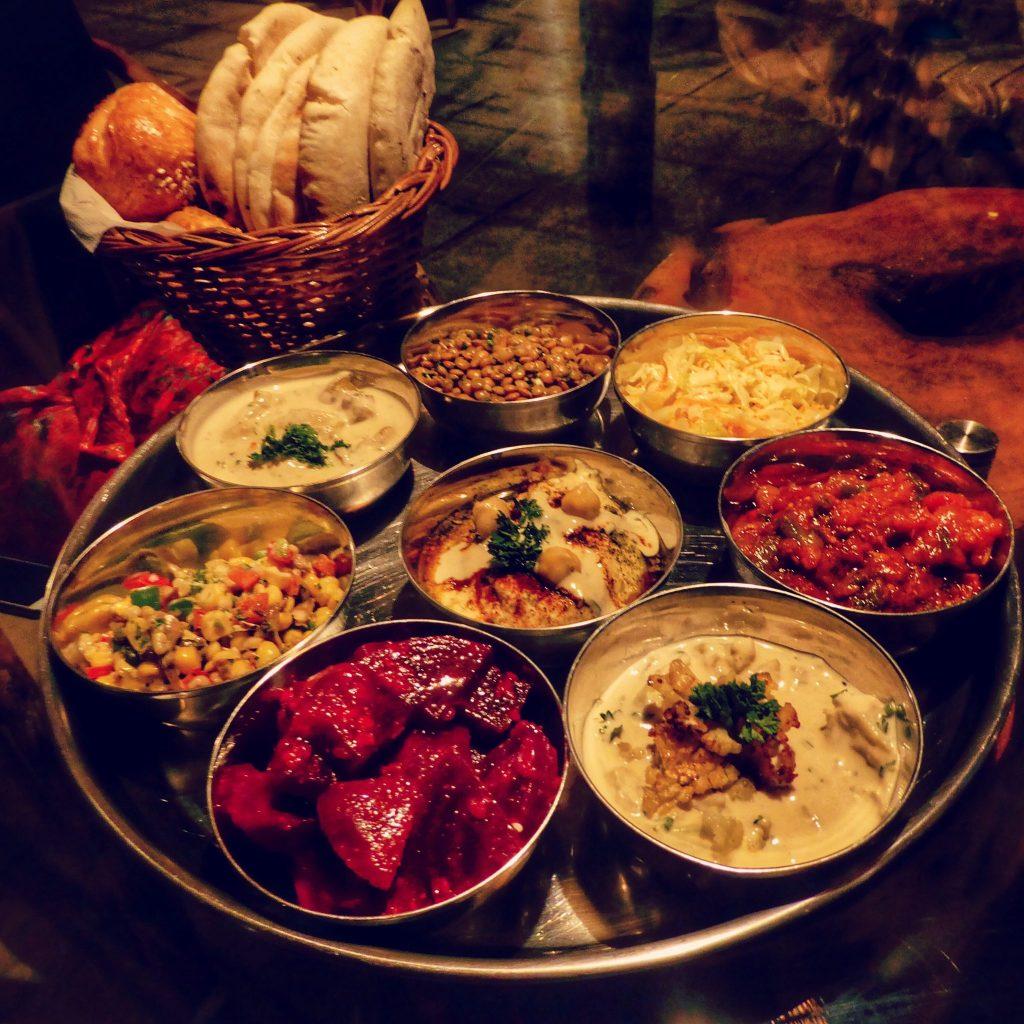 Special Mediterranean Thali at Goa's Ark