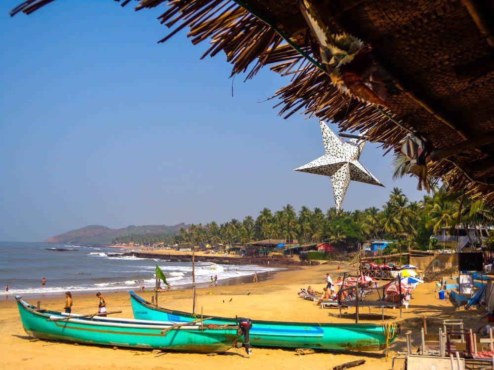 View from Shiva Valley, South Anjuna Beach, Goa