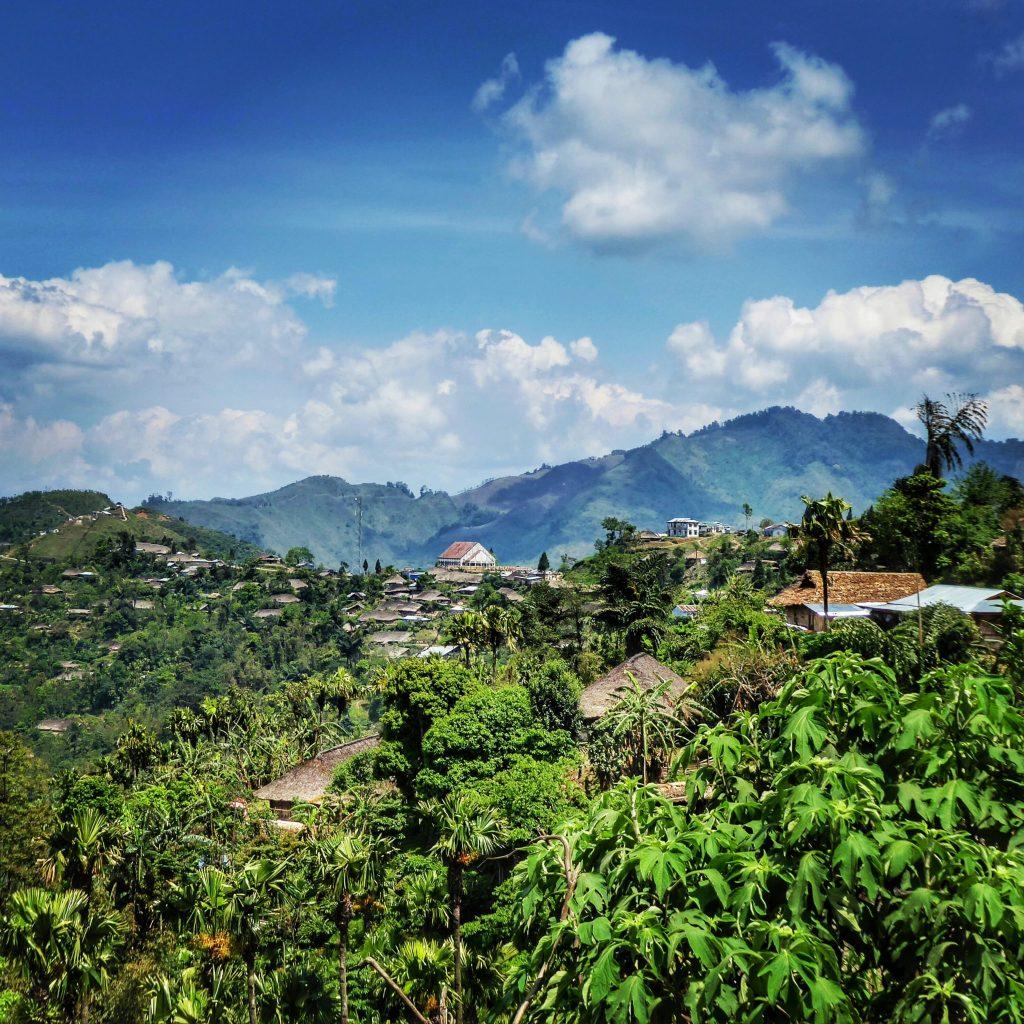 Views to Longwa in Nagaland