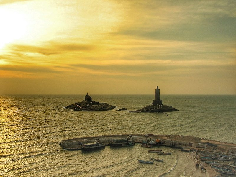 Kanyakumari at sunrise