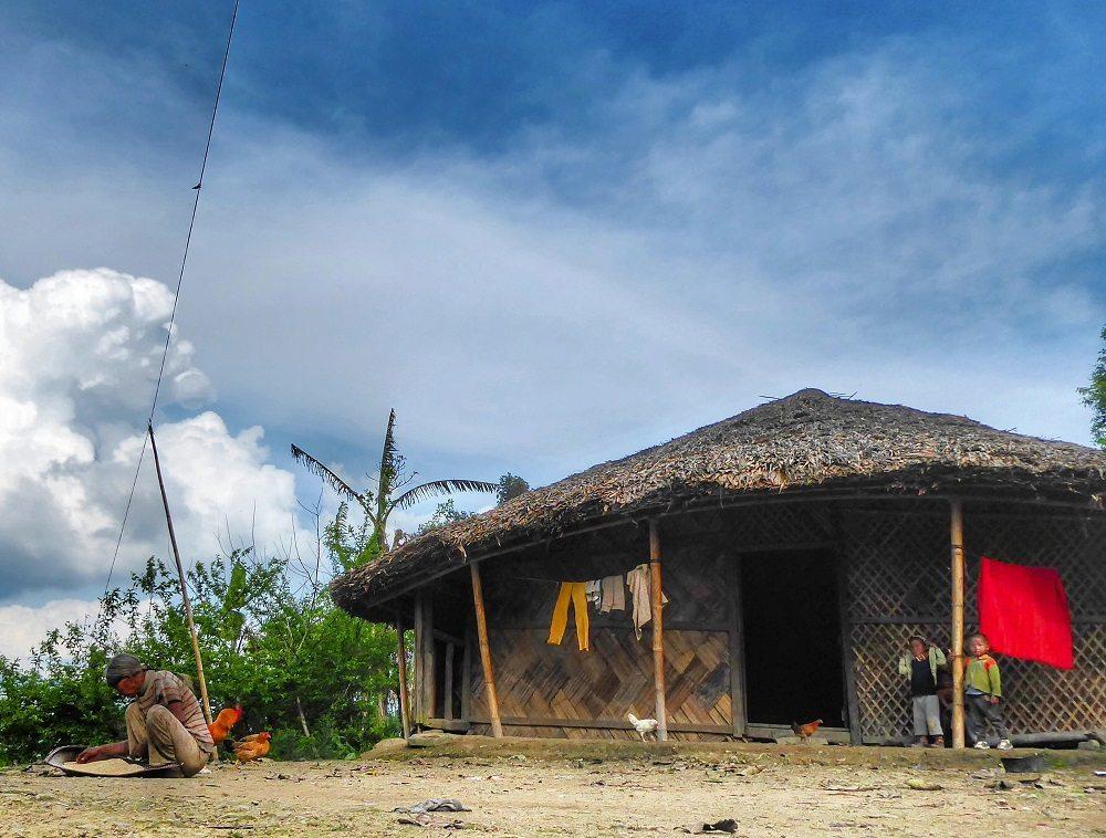 Tribal houses in Longwa
