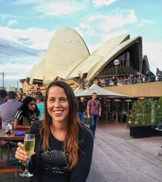 At the Sydney Opera House bar