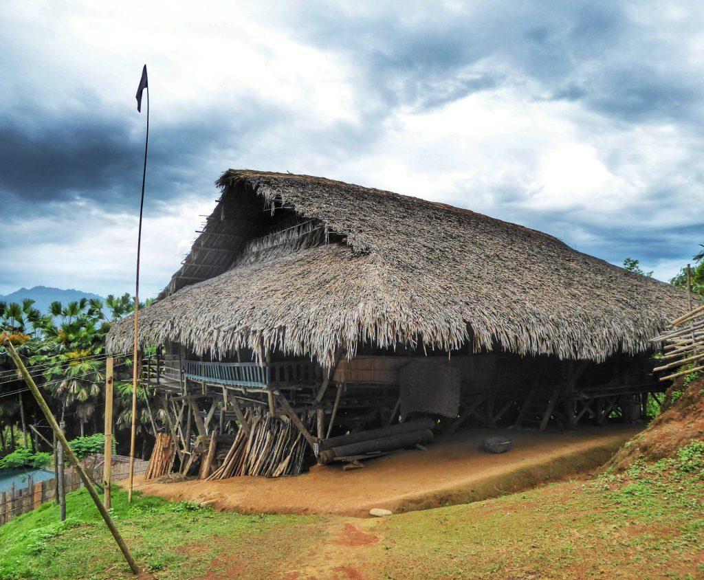 Traditional Galo tribal house near Aalo, Arunachal Pradesh