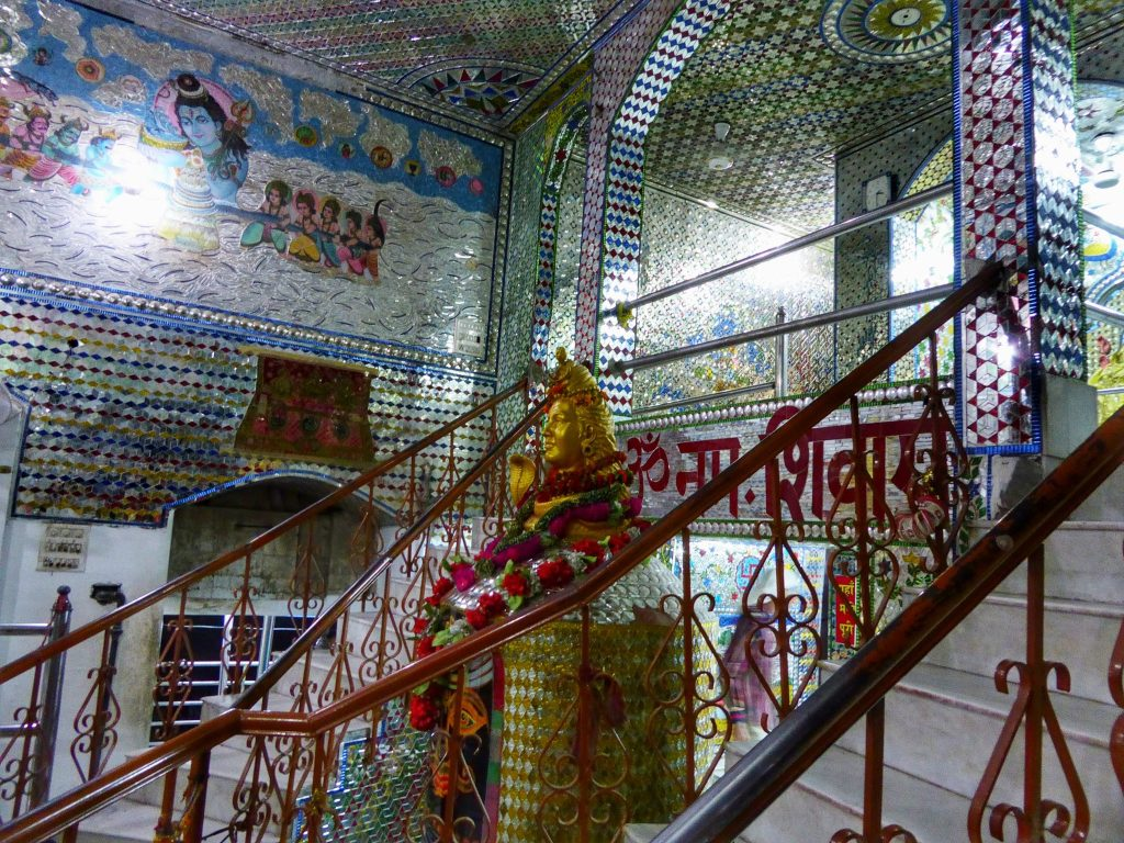 Stairways inside Mata Lal Devi temple in Amritsar