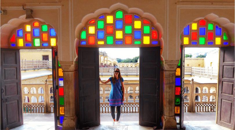 Exploring the Hawa Mahal in Jaipur,