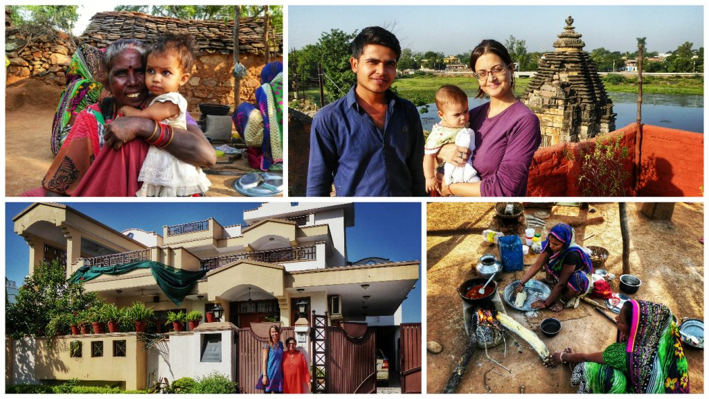 Just some of the wonderful people I met at the homestays on my trip with India Someday