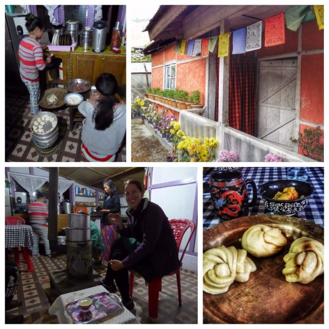 Eating homecooked Tibetan food at a homestay in Bomdila, Arunachal Pradesh, North East India with Holiday Scout