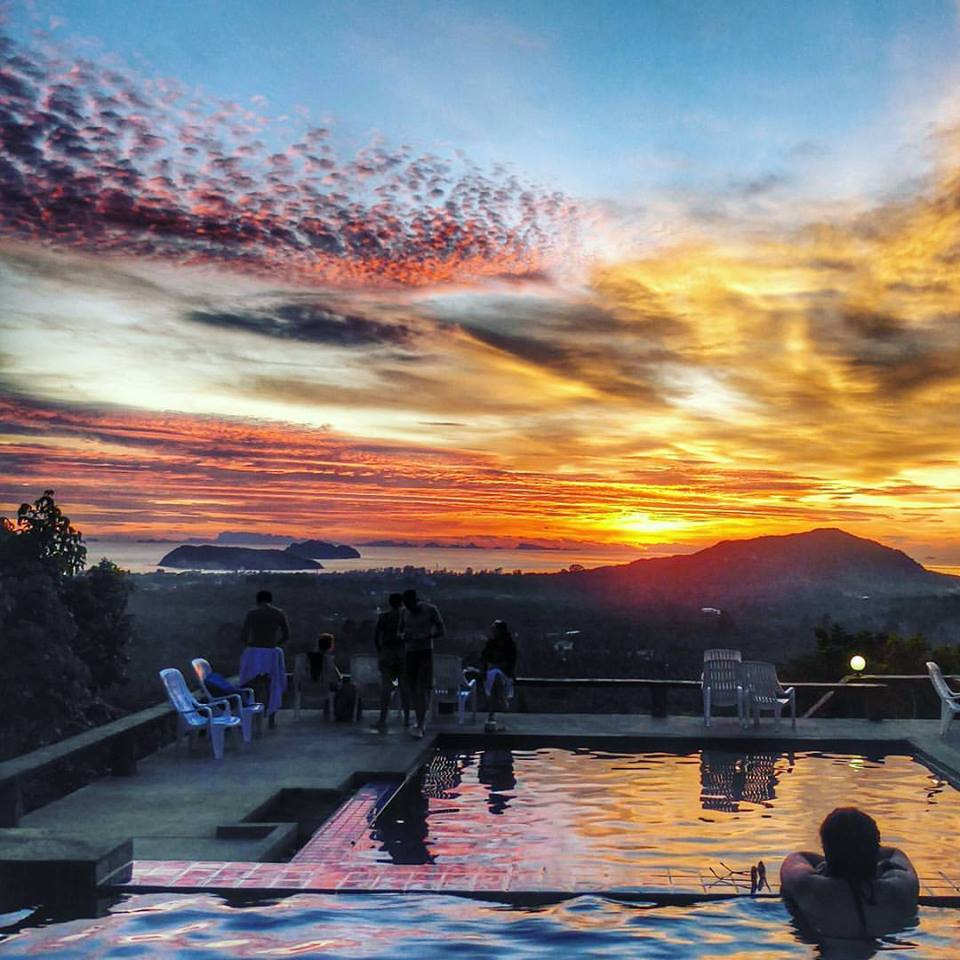 Secret Mountain Bar. Could there be any better place to watch the sunset than in a swimming pool on top of a mountain