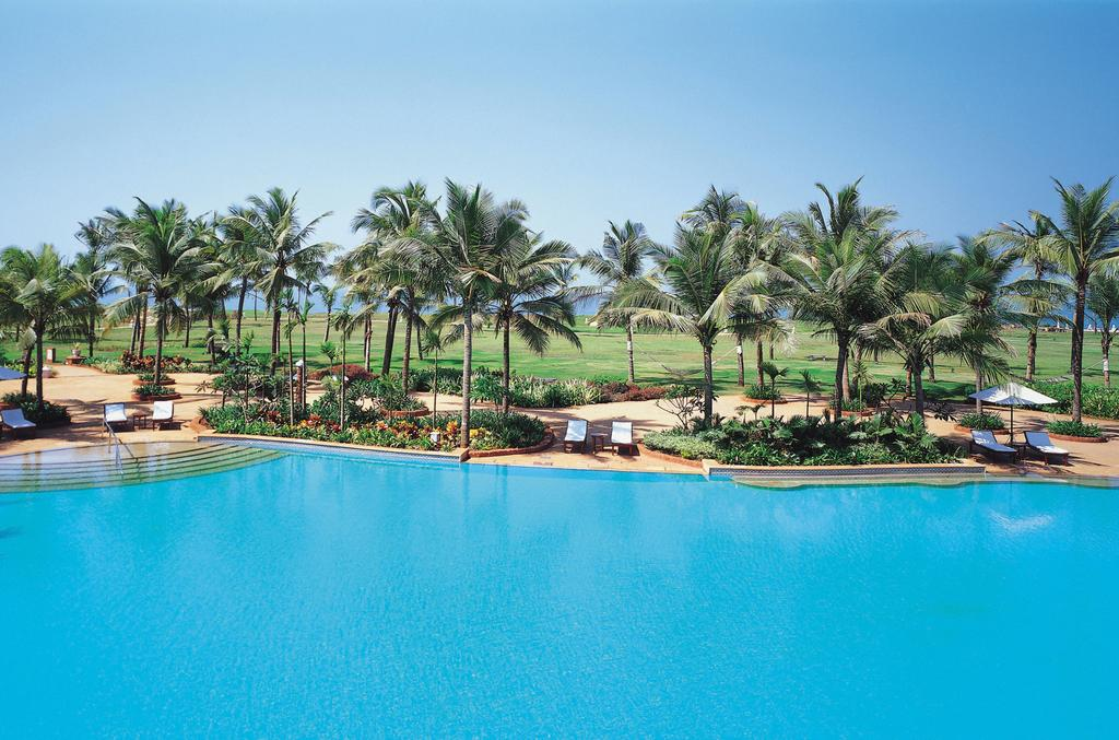 the pool at the taj exotica - one of the best luxury hotels in goa