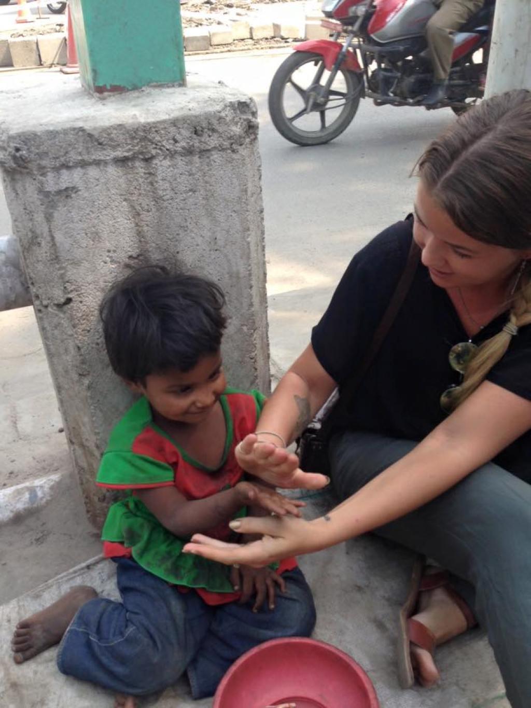 child begging nepal