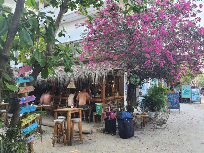 Cafes and Bars in trendy La Punta, Puerto Escondido