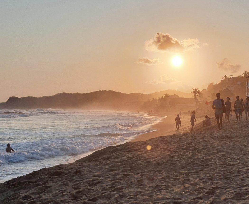 zipolite mexico sunset beach
