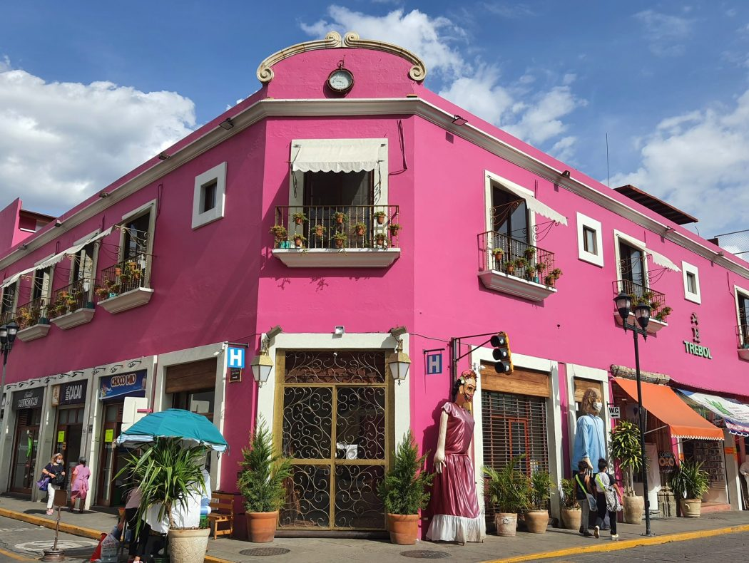 colourful houses centro historico oaxaca mexico