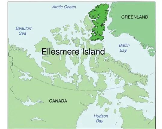 Ellesmere island in Canada