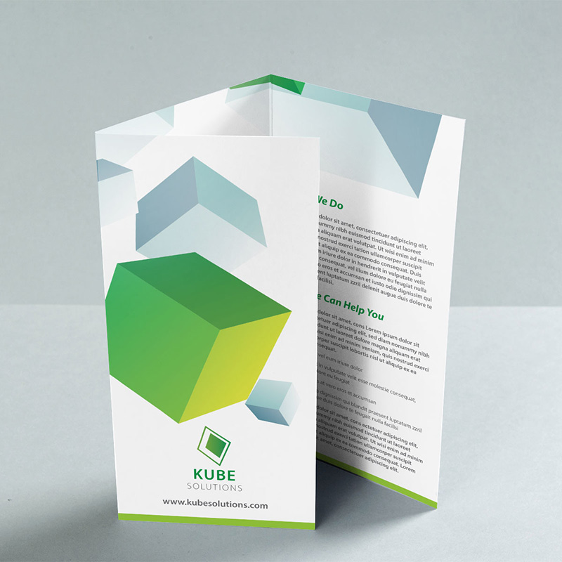 A4 C Fold Leaflet Upright