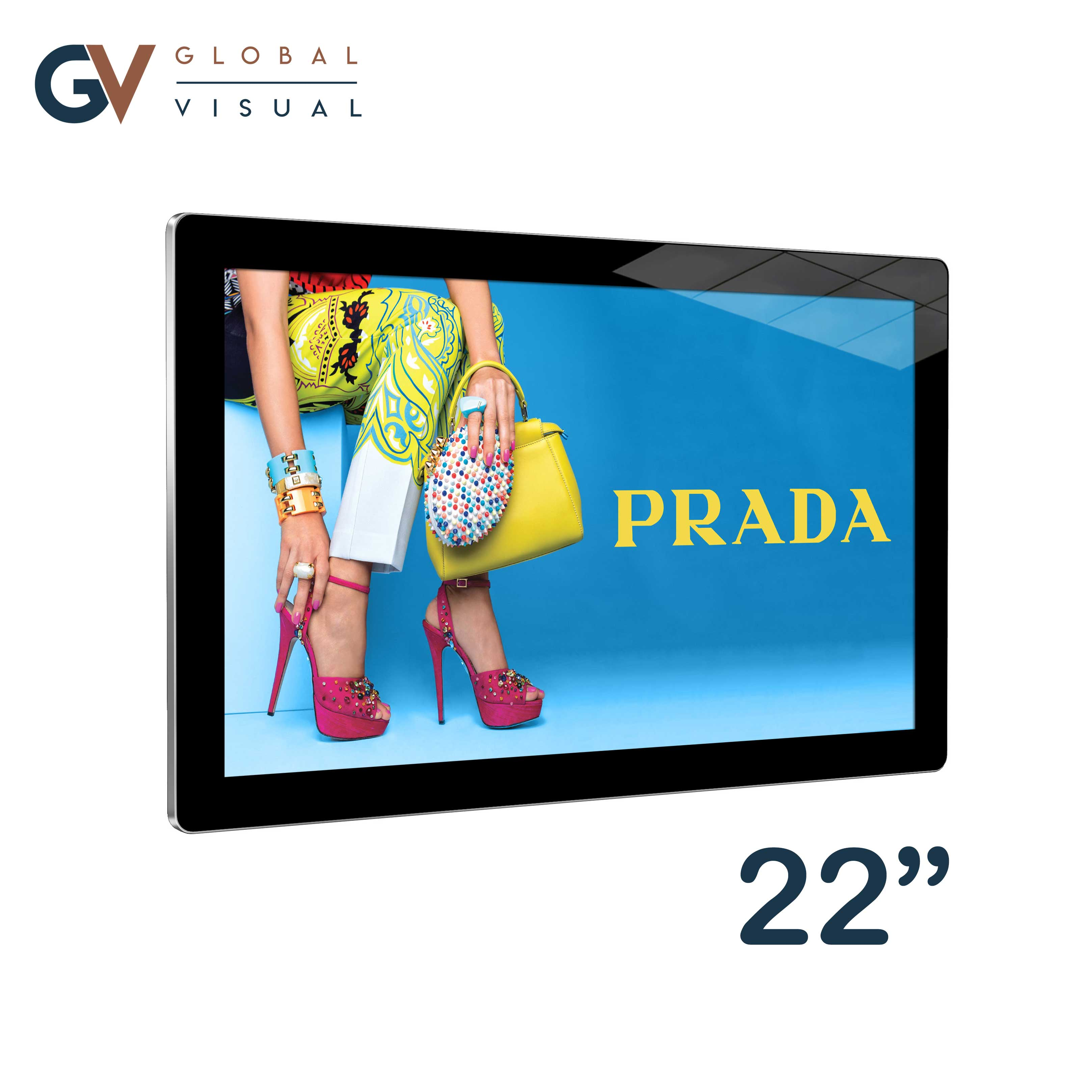Image of a 22 inch android advertising screen