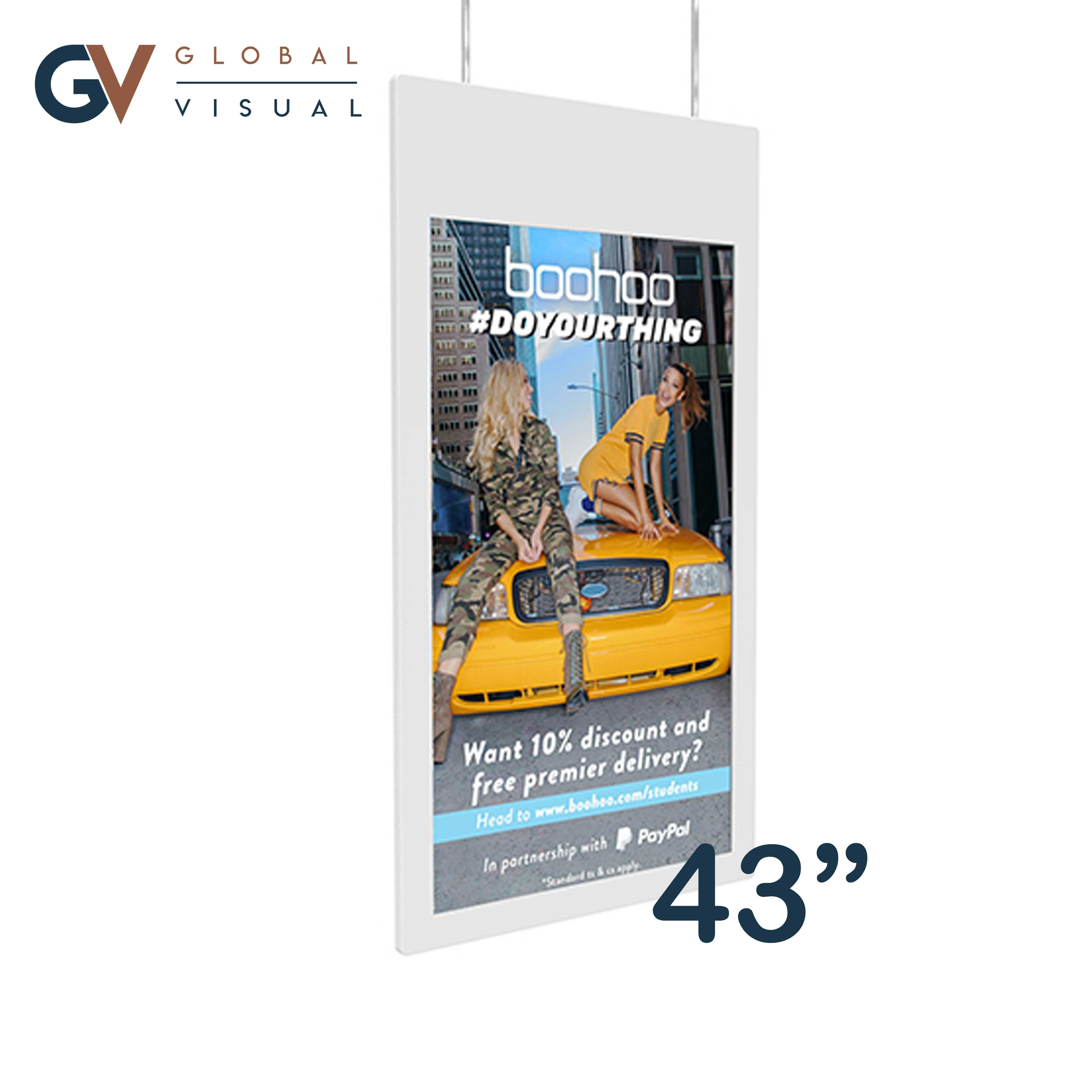 """Image of 43"""" Hanging Double Sided Window Display"""