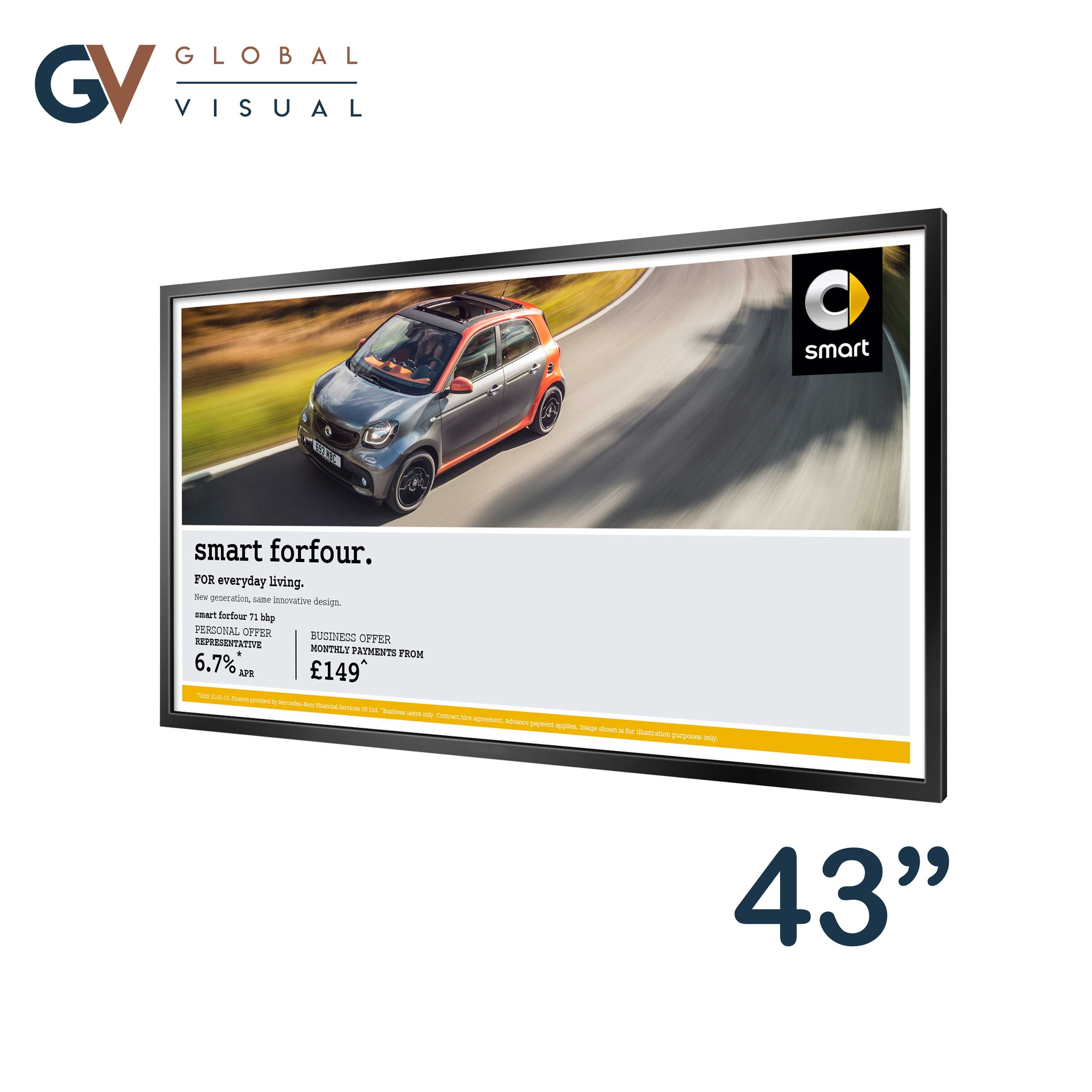 """Image of a 43"""" High Brightness Professional Monitor"""