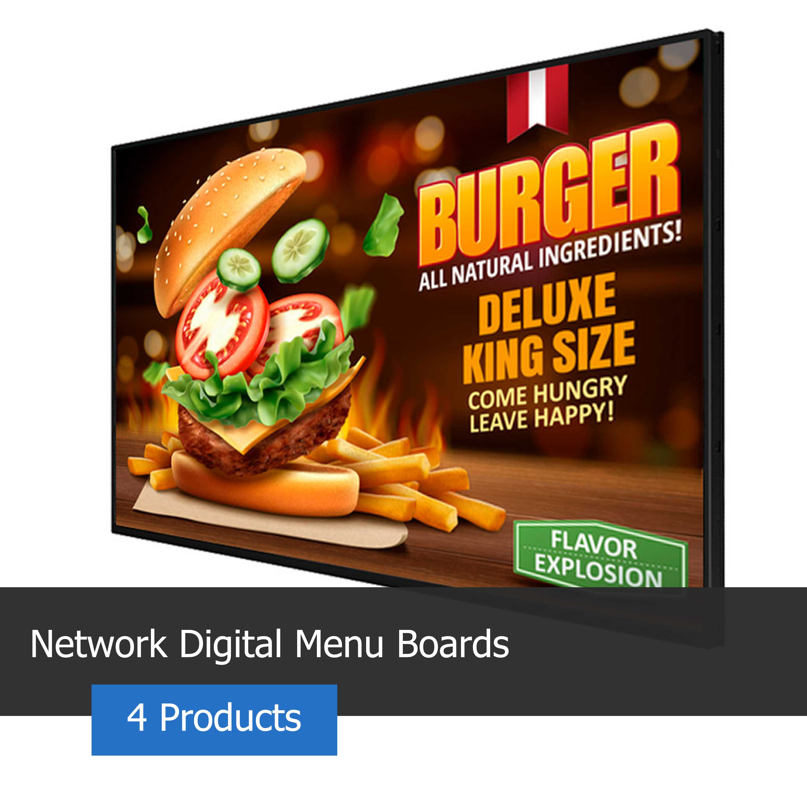 Image of a networked digital menu board