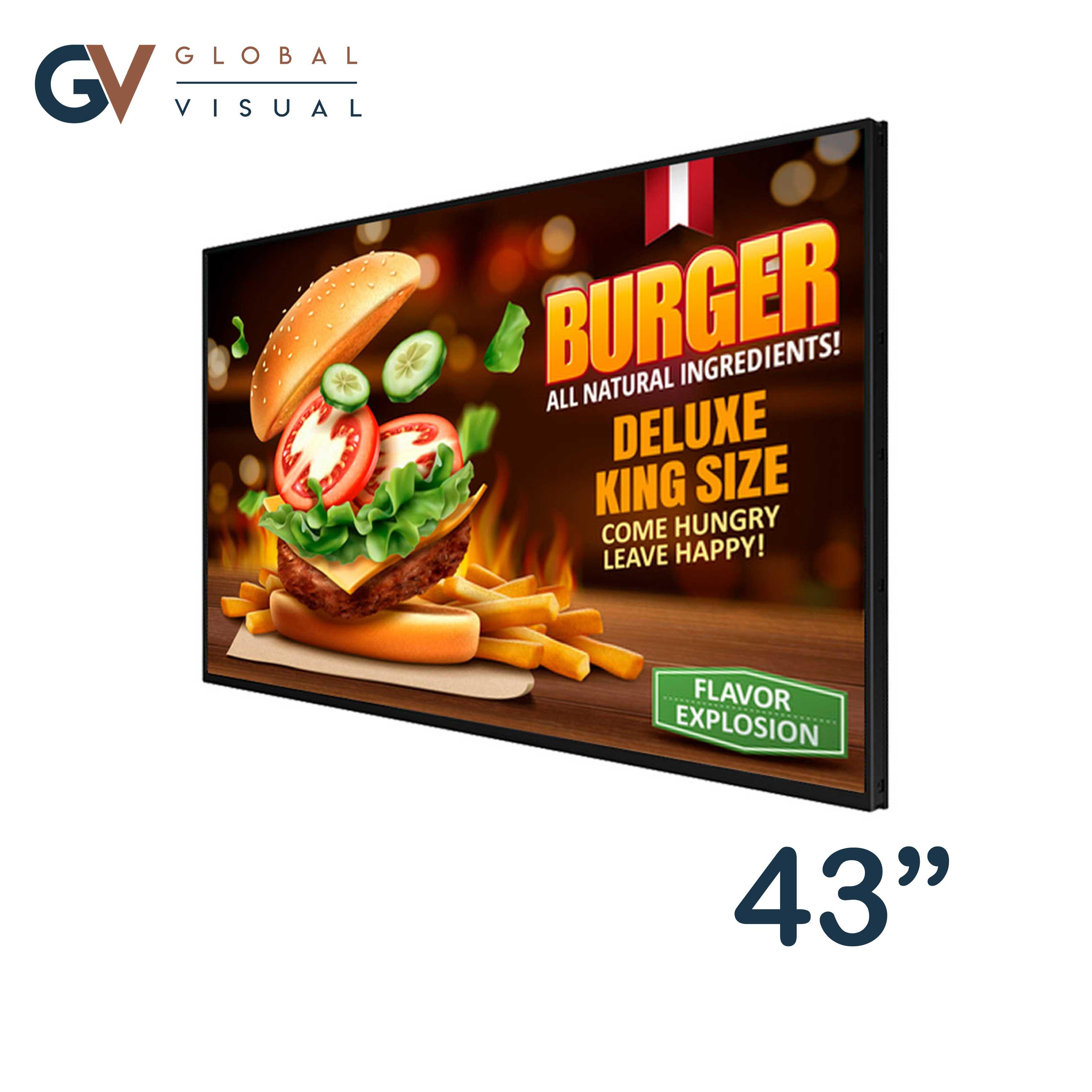 "Image of a 42"" digital menu board"