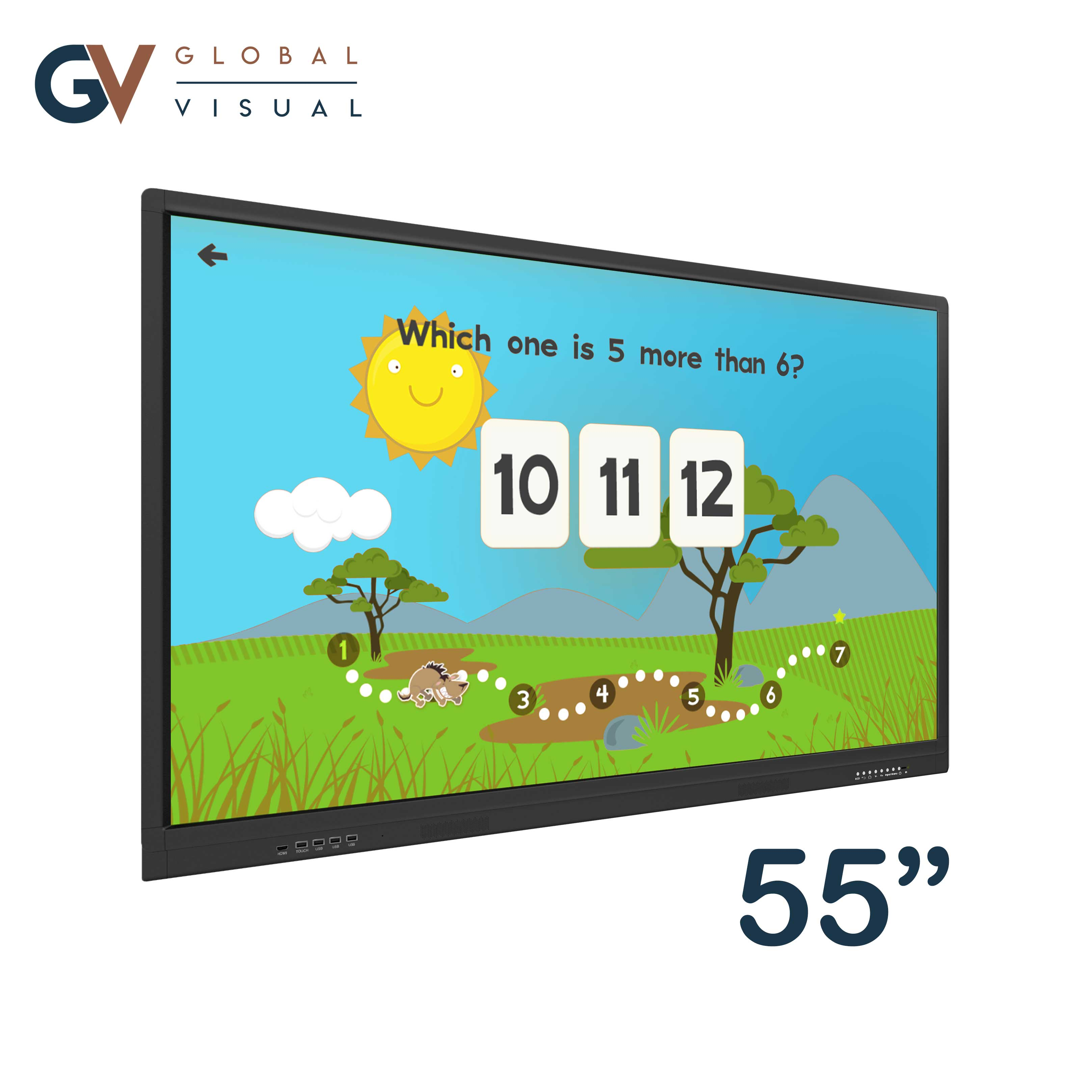 "Image of a 55"" class room interactive touch display"