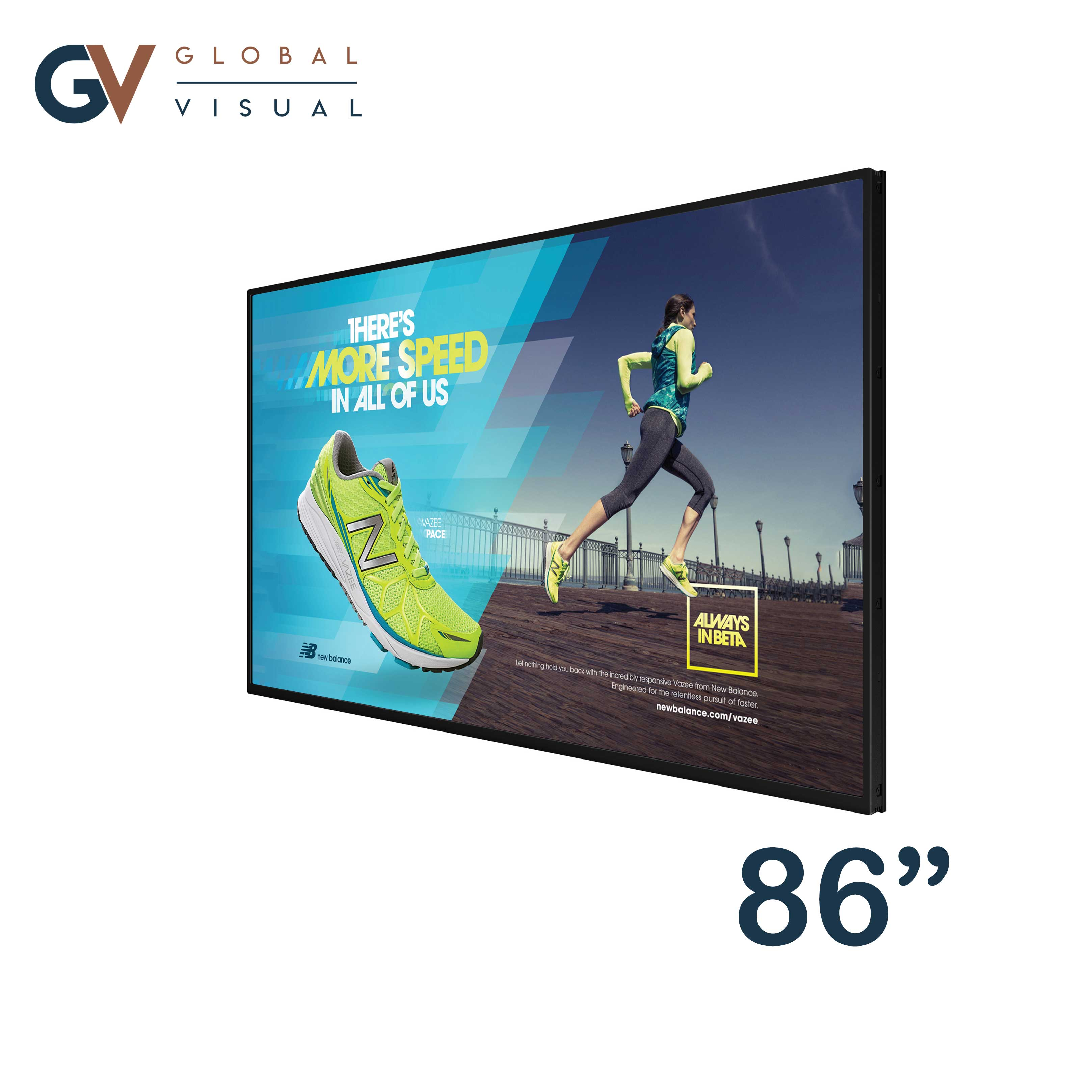 """Image of a 86"""" commercial display"""