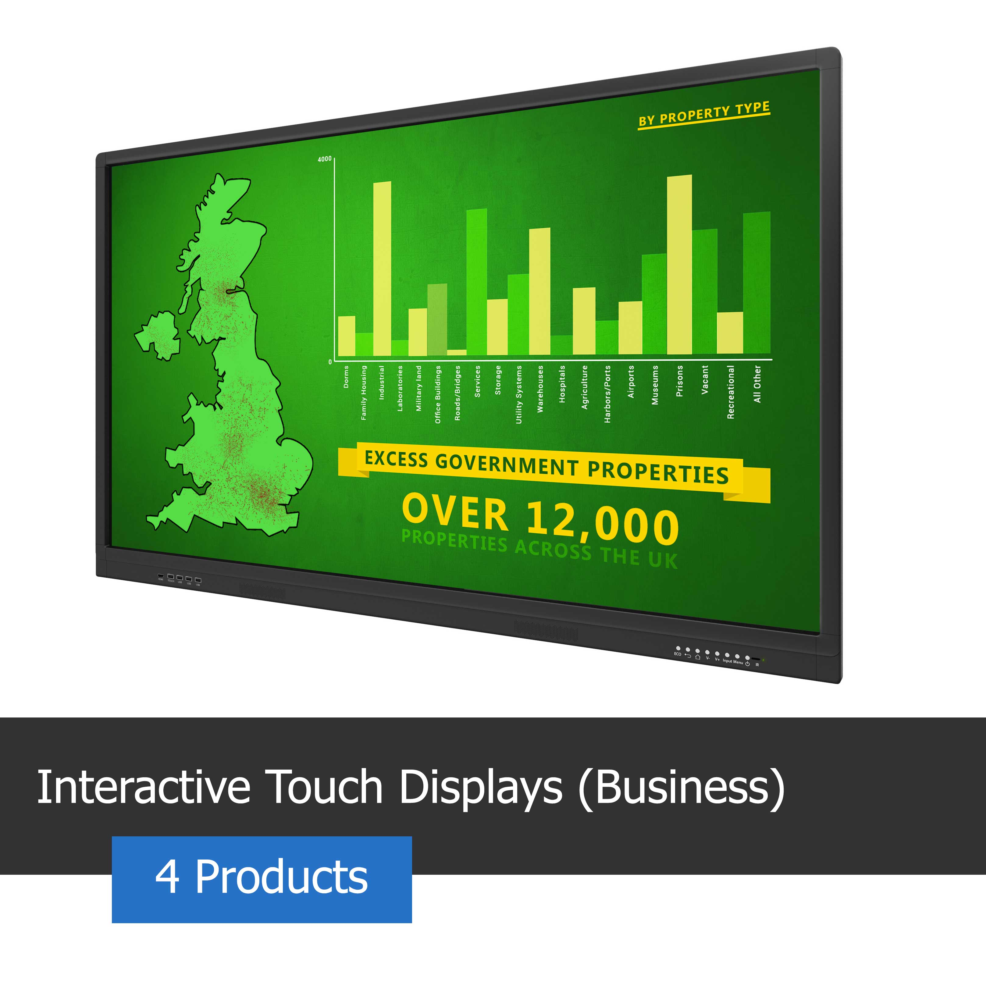 Image of a Interactive Touch Screen with meeting pad for business