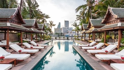 The perfect oasis in the heart of Bangkok.  Our room had an amazing view overlooking the Chao Praya River, the Spa was heavenly, and the pool salas – a favorite place to relax!