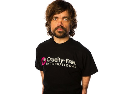 Peter Dinklage supports Cruelty Free International. Photo Credit: Cruelty Free International
