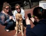 chicago parish dogs visit grieving boston residents