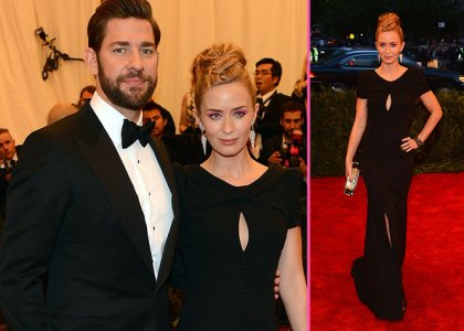 Blunt and Krasinski go green  for the Gala. Photo Credit: Getty Images