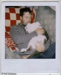 Isaac Brock of modest mouse with cat