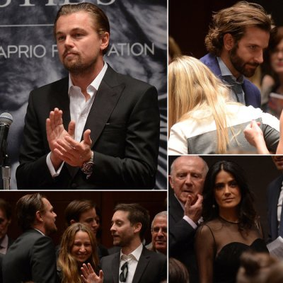Leonardo DiCaprio and other celebrities at the 11th Hour Auction on May 13, 2013