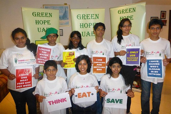Children in the United Arab Emirates celebrating World Environment Day. Photo Credit: UNEP