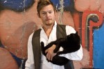 Norman Reedus With Cute Cat