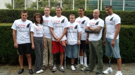 Shark Attack Survivors Join Together to Save Sharks. Photo Credit: Shark Attack Survivors for Shark Conservation.
