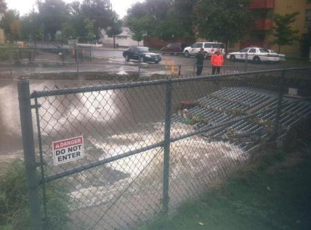Ronnie Webb was washed into this culvert Denver Friday morning, Sept. 13, 2013. Photo Credit: Denver Police Department