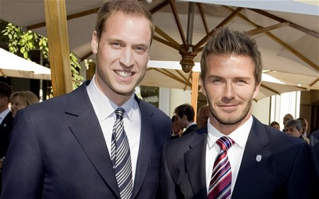 Prince William launches a new global wildlife organization and enlists David Beckham to join him in the fight against illegal wildlife products./Photo credit: Rex Features
