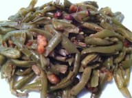 Green beans with walnuts. The beans are a good source of vitamins A & C while the walnuts give us healthy dose of omega-3s./Photo credit: Lisa Singer