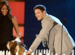Actor Kellan Lutz accepts the VH1 Do Something For Animals award
