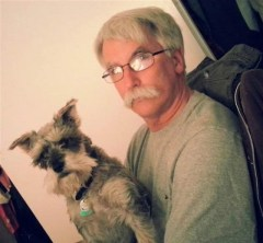Jim Phelan and his miniature schnauzer, Jack were finalists in the TODAY show contest. Photo Credit: Jim Phelan