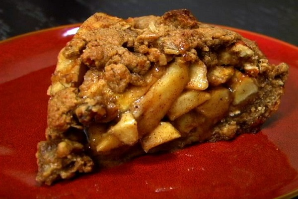 This nutty apple pie is a delicious vegan dessert! Photo Credit: (VEGAN)