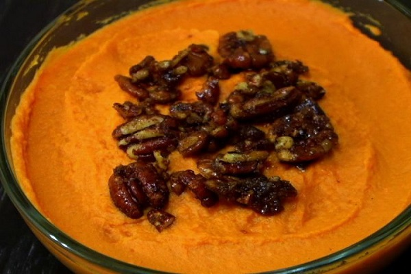 (VEGETARIAN) This mashed sweet potato is perfect for Thanksgiving.