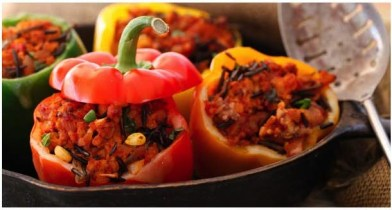 Recipes like this tempeh and bell pepper combo helps improve your bodies iron absorption./Photo credit: tempehgirls.com